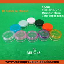 Cheap 50pcs/lot 5ml 5g Mini cosmetic cream jars, cosmetic plastic jars, plastic cosmetic jar cream bottle sample makeup jars pot