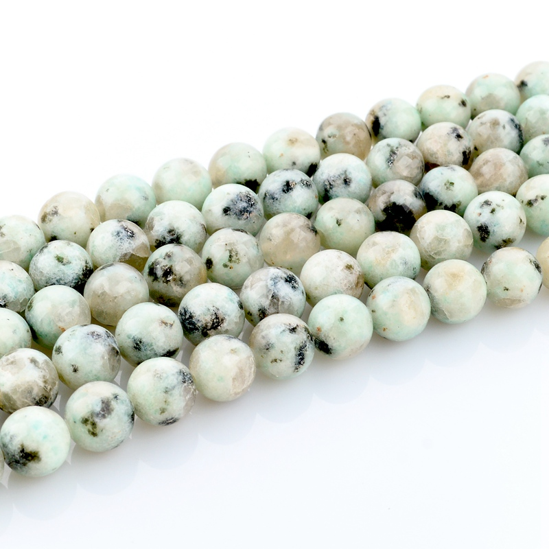 8mm Green White Natural stone beads for jewelry making diy accessories E10-RD-8mm(China (Mainland))