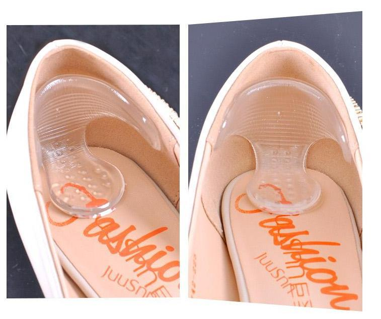 1 pair Transparent Invisible silica gel stickers slip resistant gel shoe insoles high heel grip liner inserts cushions pads<br><br>Aliexpress