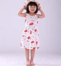 Sunny Girls Dress Summer Sleeveless baby girls clothes Flowers girl dresses vestido infantil kids clothes Size 6-8 Girl Dresses