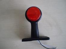 TWO 12V 2'' RED LED Stalk Side Marker Lamp Trailer Truck Lorry  6 diodes Outline Position Light Emark/DOT/SAE standard(China (Mainland))