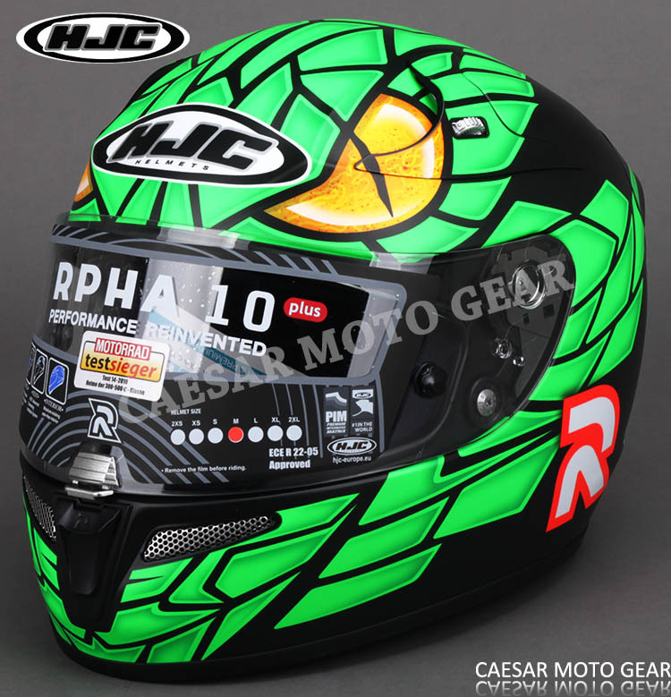 HJC RPHA 10 GREEN MAMB A MC4F men of motorcycle helmet Professional Cross-country Highway racing helmet Run the helmet(China (Mainland))