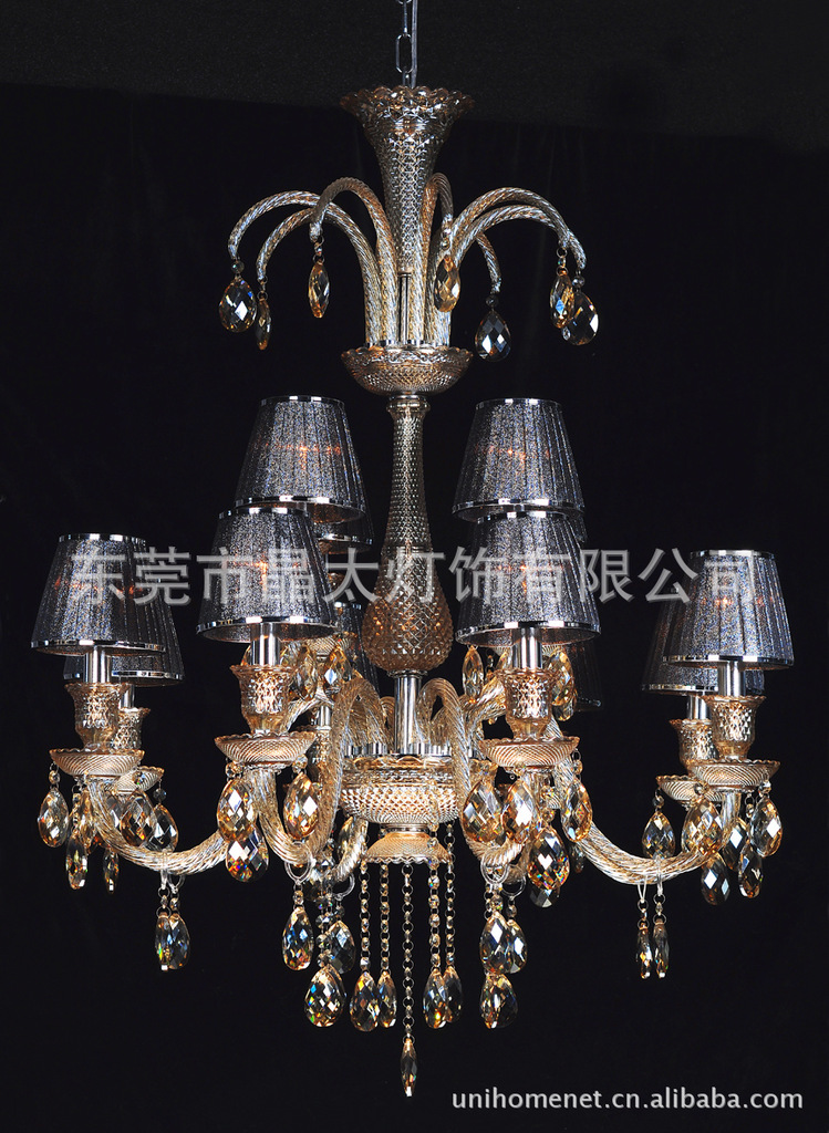 Pendant Lights Square crystal ceiling lamp, high-grade crystal ceiling engineering, clubs, hotels lighting supplier Crystal Lamp(China (Mainland))