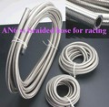 HT Racing Store 5Meters AN6 Double braided Stainless steel Teflon fuel hose line AN6 ID 8MM