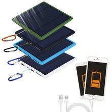 2016 Nova 9000 mAh À Prova D' Água dupla USB Painel Solar Power Bank Carregador Solar Para Telefone Celular Promoção Quente(China (Mainland))
