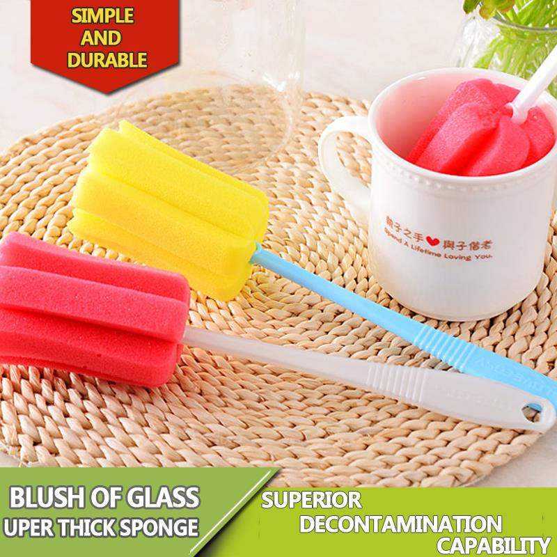 New Environmental Cleaning Brushes For Glass Milk Bottle/Family Use Glass Sponge Cup Brush/Brand Cheap Cleaning Brush(China (Mainland))
