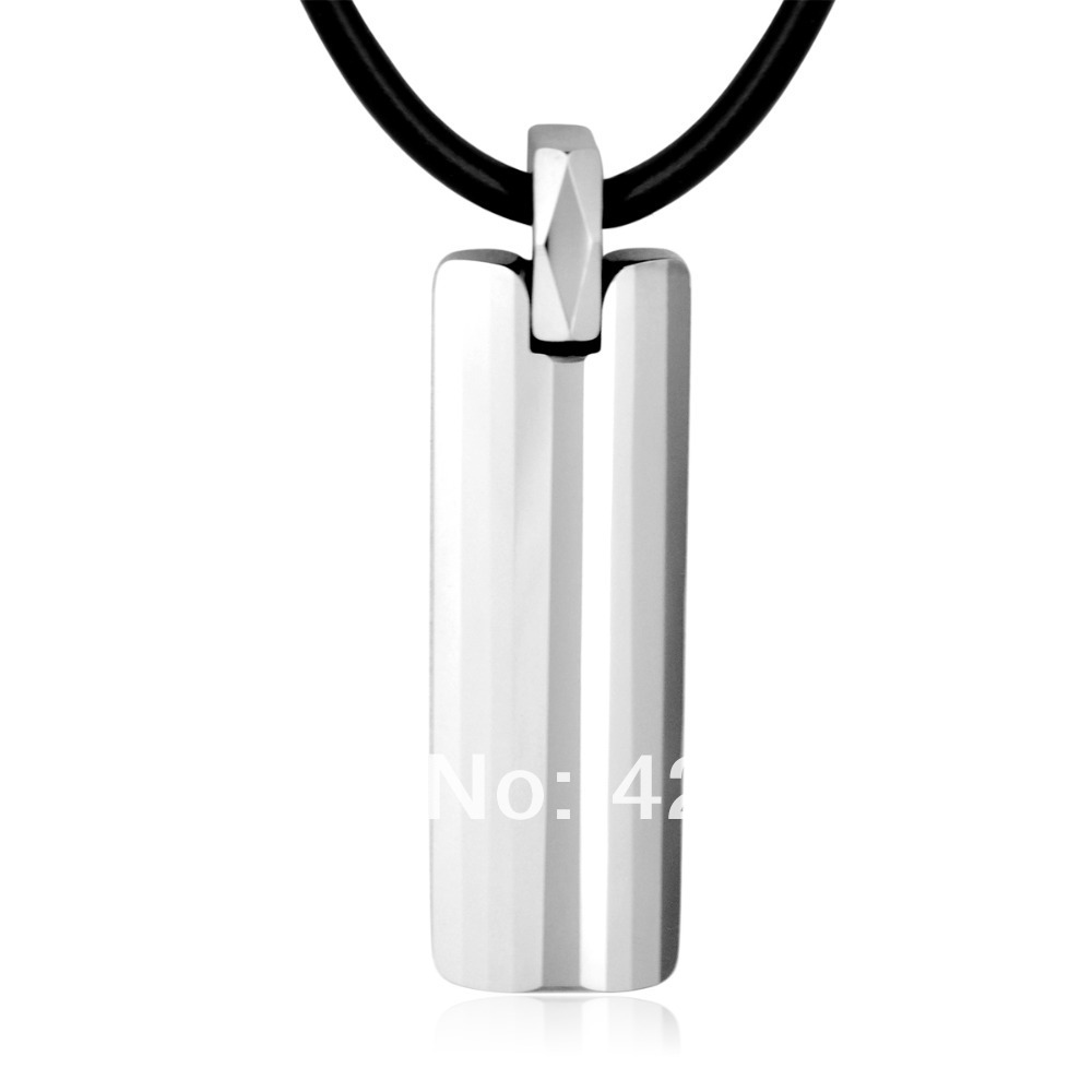 wholesale tungsten men's pendants luck pendants for lovers birthday gift valentine free chain custom engraving on the back 2014(China (Mainland))