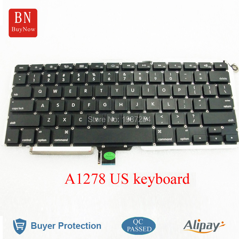 5PCS/Lot New US Keyboard For Apple Macbook Pro 13 A1278 US Keyboard With Backlight<br><br>Aliexpress
