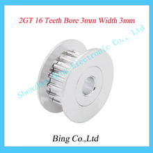 3D printer parts 2GT16 tooth 16 teeth bore 3mm synchronous wheel pulley H type passive idler pulley wheel Bearings wheel