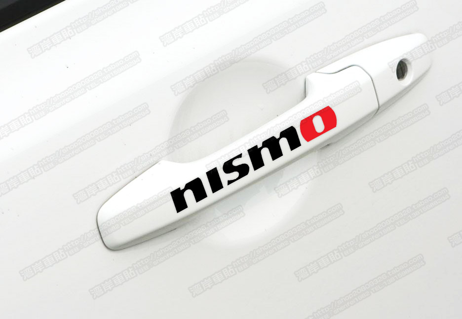 NISMO vinyl decal for car's door handle car sticker 4 pcs in one set(China (Mainland))