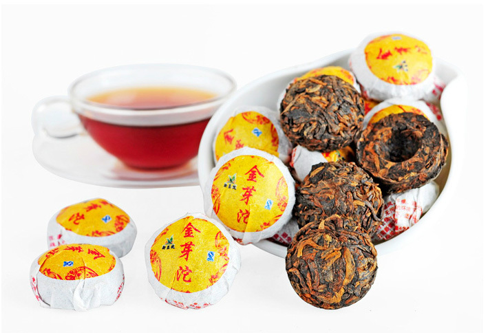 Best Quality Golden Buds Production Of Royal Curiosa Ripe Puer Tea, Xinyi Brand Gong Ting Craft Brewing Products For Hand Made(China (Mainland))