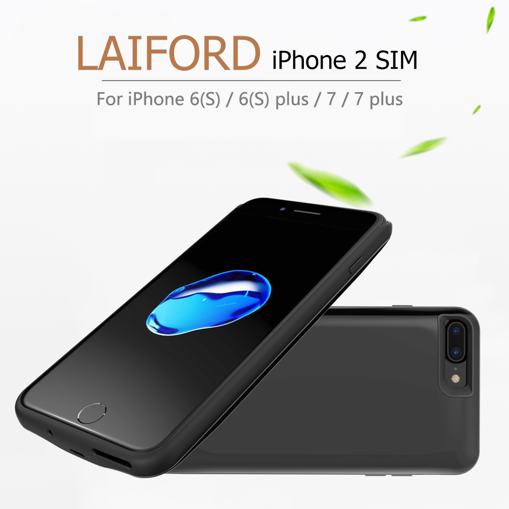 Dual SIM Dual Standby Bluetooth Adapter For iPhone 7/7plus GoodTalk Phone Shell Ultra-thin Back Clip Battery 2500mAh Power Bank(China (Mainland))