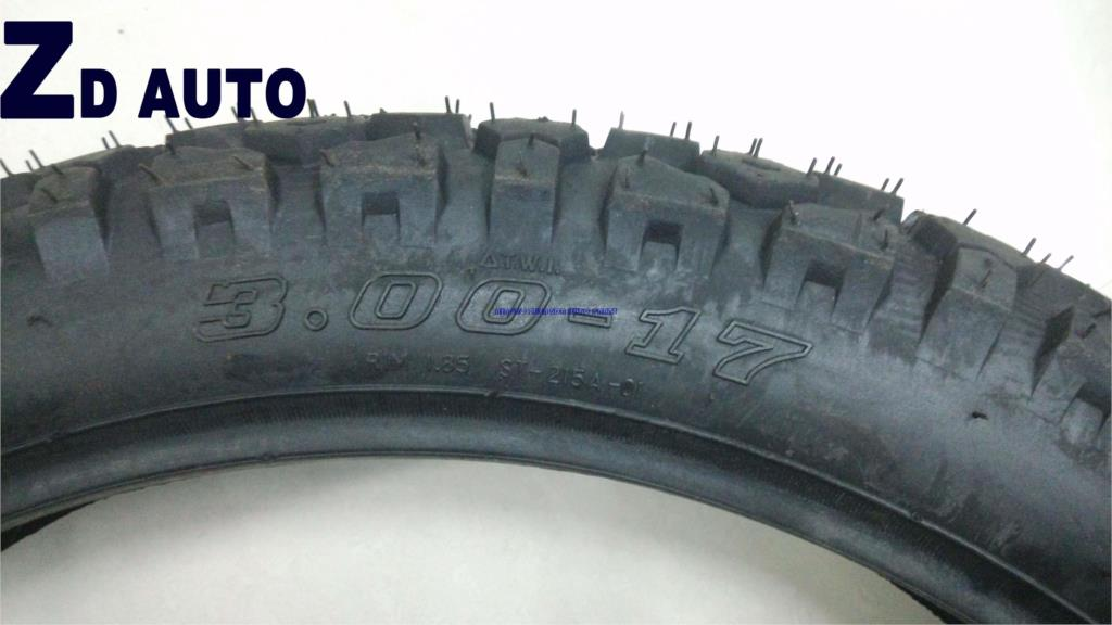 HIGH QUUALITY MOTORCYCLE TYRE 3.00-17 SIZE .(China (Mainland))