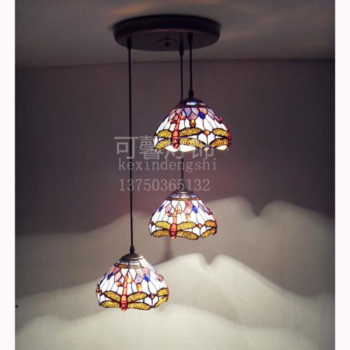 3 head round base tiffany chandelier stair light bar light dining room light. Black Bedroom Furniture Sets. Home Design Ideas