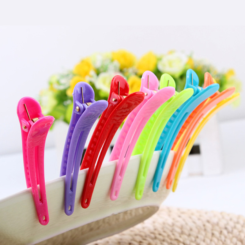 10pcs Plastic material Fashion Girls' Hair Clips Mixed Color Style Hairpins Girl's Barrette Hair Accessories(China (Mainland))