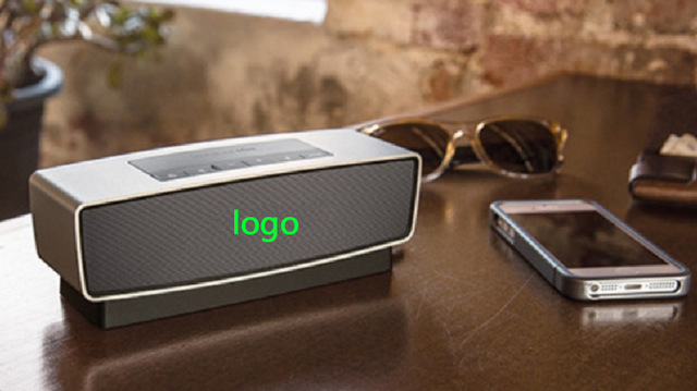 2016 new Bluetooth Speaker with Logo 3D stereo surround and deep bass music wireless speaker good sound good quality logo box(China (Mainland))