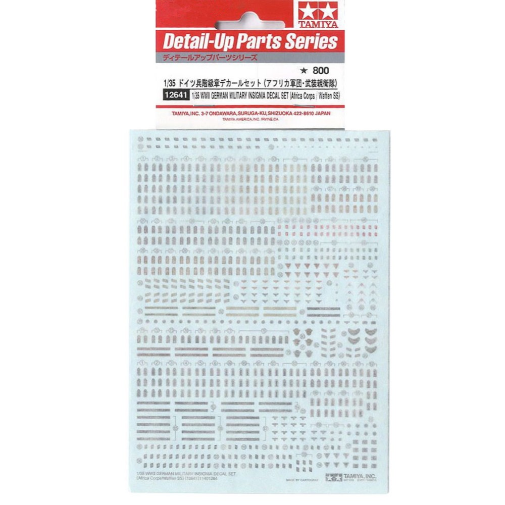 Tamiya 12641 1/35 WWII German Insignia Decal Set Africa Corps/Waffen SS Assembly Military Miniatures Model Building Kits TTH(China (Mainland))