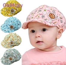 10x/lot 3-24 Months Cute Child Baseball Caps Baby Girls Fashion Beret Hats Kid Peaked Hats Infant lovely Cricket-Cap 5 colors(China (Mainland))