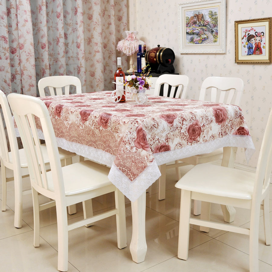 High Quality 138*180cm PVC Table Cloth Plastic Waterproof Oil Dining Tablecloth Coffee Printed Table Cover Overlay Free Shipping(China (Mainland))