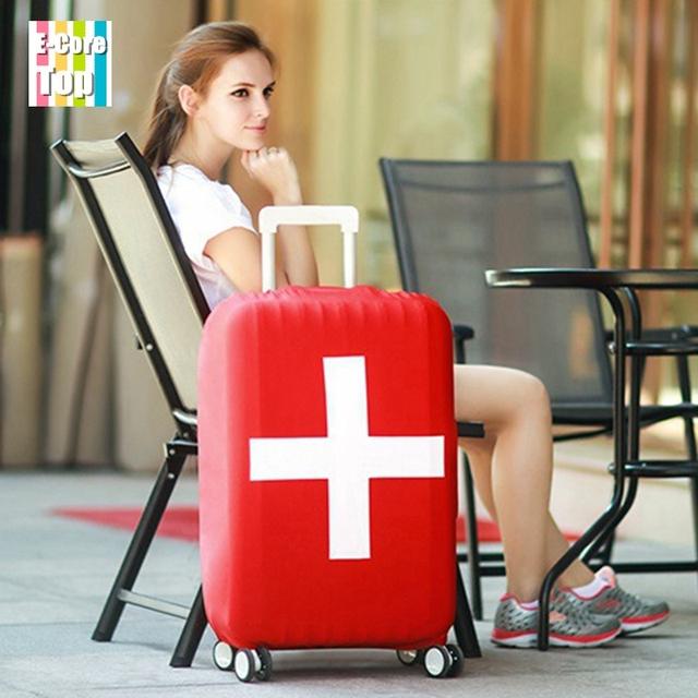 Национальный флаг серии поездки багаж защитный чехол чемодан крышка эластичный багажа ...