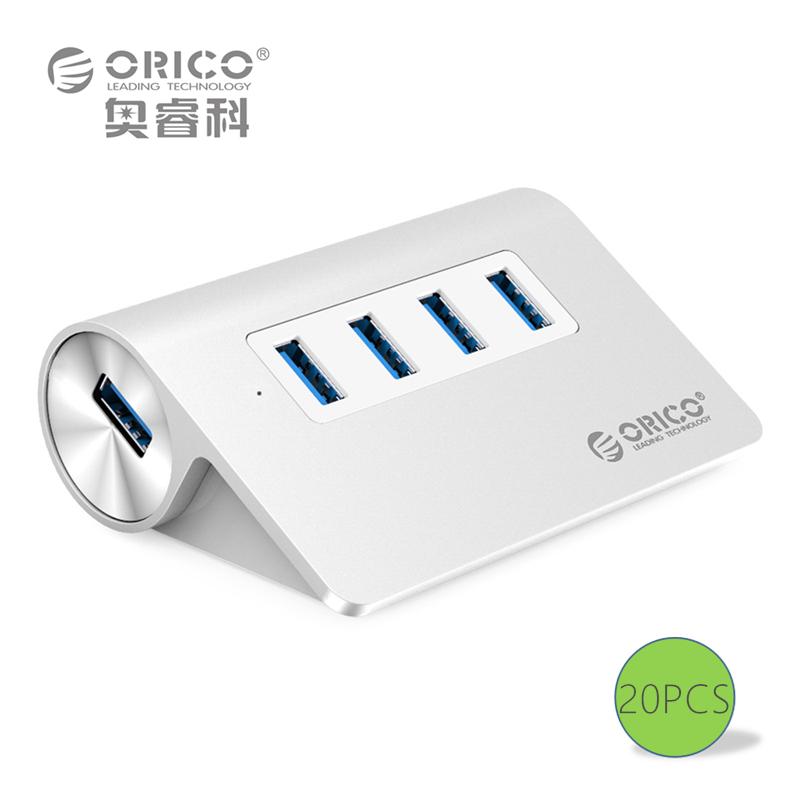 ORICO M3H4-SV Aluminum High Speed Mini 4 Port Micro USB 3.0 HUB with CE FCC Certification 20PCS(China (Mainland))