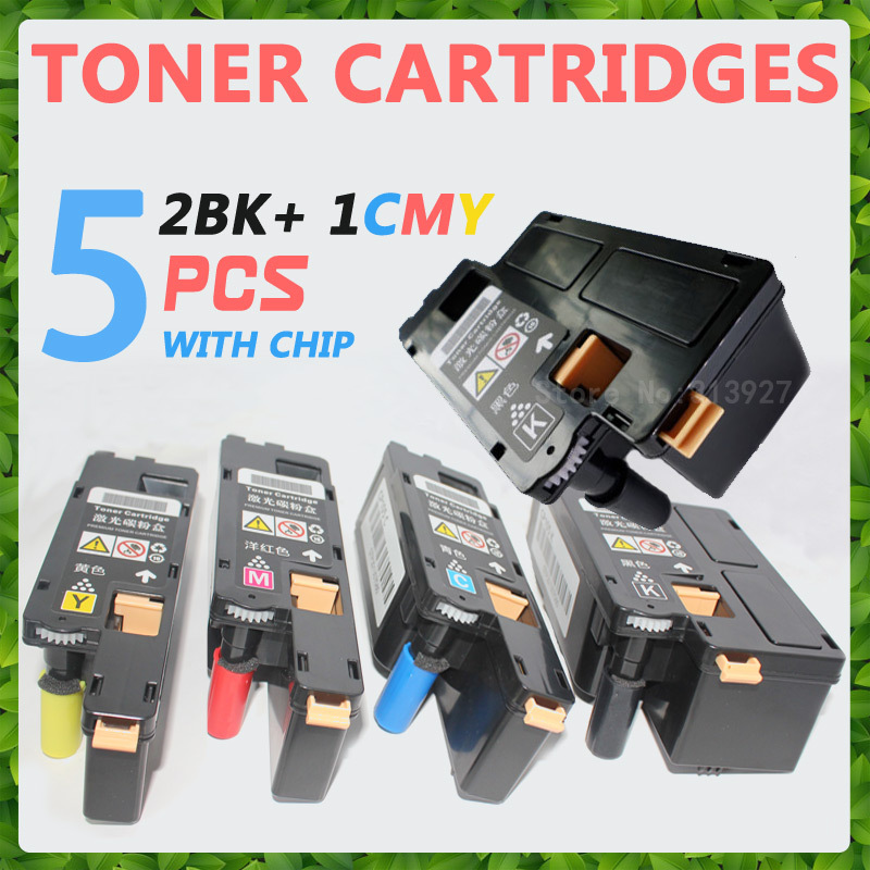 Toner Cartridge for Epson AcuLaser C1700 1700 C1750 1750 CX17 Color Laser Printer, 5 PCS/ 2BK+CMY(China (Mainland))