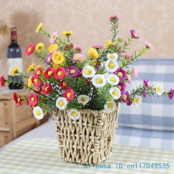 1 PCS Bouquet Artificial Small Chrysanthemum Silk Flowers Home Decoration 4 Colors Available F82