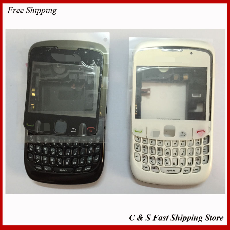 Original Full Housing For Blackberry Curve 8520 Complete Cover Case Replacement ,White & Black Color(China (Mainland))