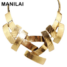 Buy MANILAI Vintage Bib Choker Necklace Women Cross Metal Pendant Snake Chain Maxi Collar Statement Jewelry Fashion Accessories for $4.56 in AliExpress store