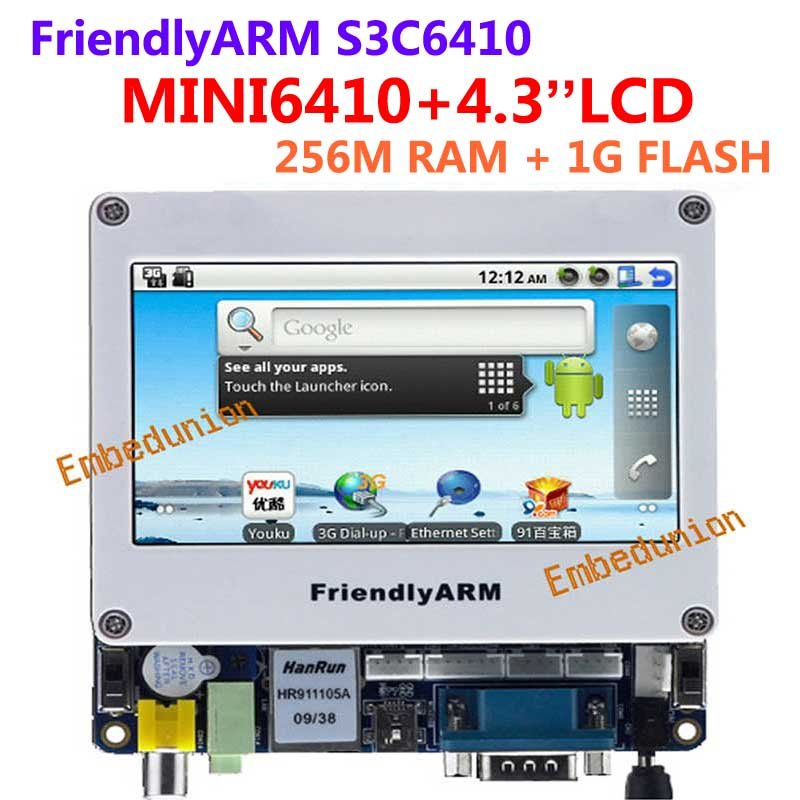 FriendlyARM ARM Development Board S3C6410 ARM11,MINI6410+4.3 inch touch LCD,256M RAM+1G Nand Flash,Android(China (Mainland))