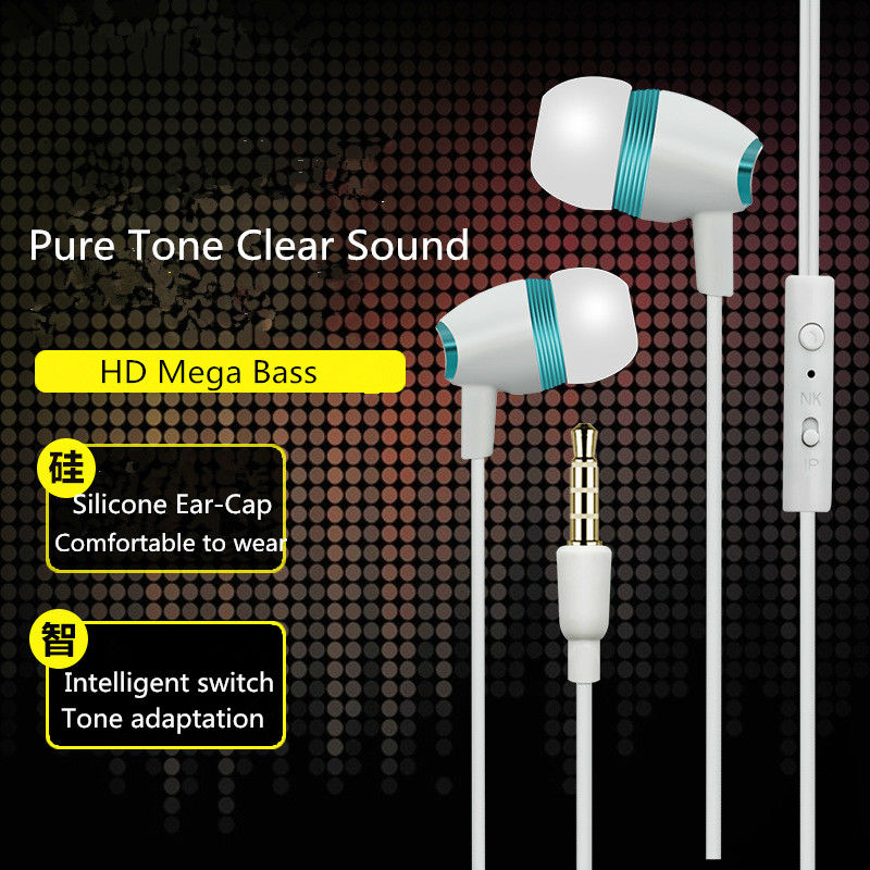 AAA+ Earphones For Karbonn Mobiles A92 Star MobliePhone, Headset Earbud For Karbonn Mobiles A92 Star Earpiece Mic Free Shipping(China (Mainland))