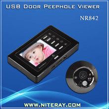 Front door peephole viewer digital door camera for steel doors with clear night vision