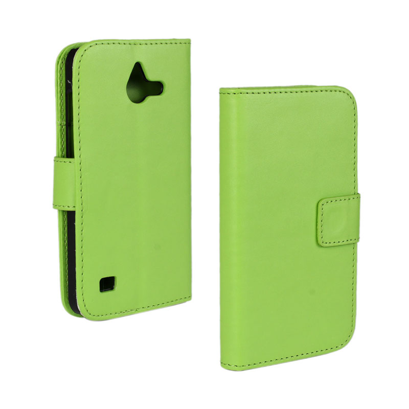 30 pcs/lot Card Slot Flip 100 Grain PU Leather Stand Wallet Case Cover Huawei Ascend Y550