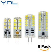 Buy YNL 6pcs/lot New G4 LED Bulb Lamp 3W High Power SMD2835 3014 DC 12V AC 220V White/Warm White Light 360 Degrees Beam Angle for $2.22 in AliExpress store