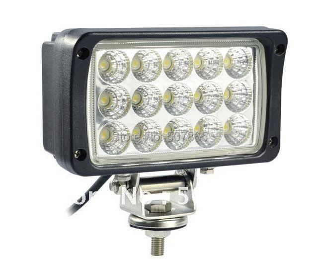 10-30V 6 inch 45W Super bright  LED work light working lamp tractor offroad Flood or spot Beam Fog lights