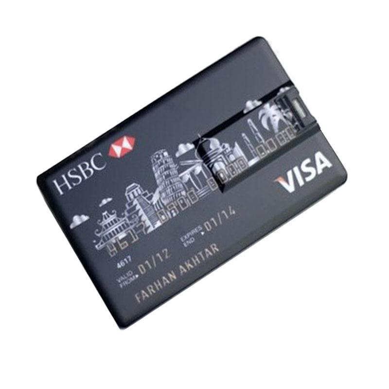 2016 Brand New Credit Card USB Flash Drive Pendrive 4GB 8GB 16GB 32GB 64GB Pen Drive Memory Disk USB Stick & Logo Customize(China (Mainland))