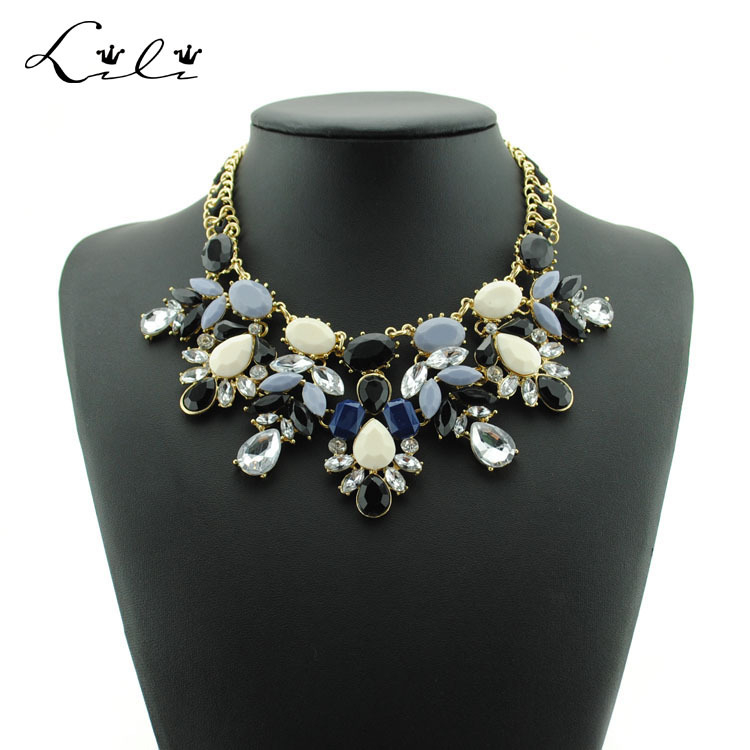 2015 New Fashion Summer Jewelry Chocker Maxi Colar Flower Statement Necklace Collar Necklaces & Pendants Accessories For Women(China (Mainland))