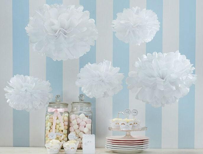 Colors 4pcs Lot 6 Inch 15cm Wedding Paper Flower Balls Tissue Paper