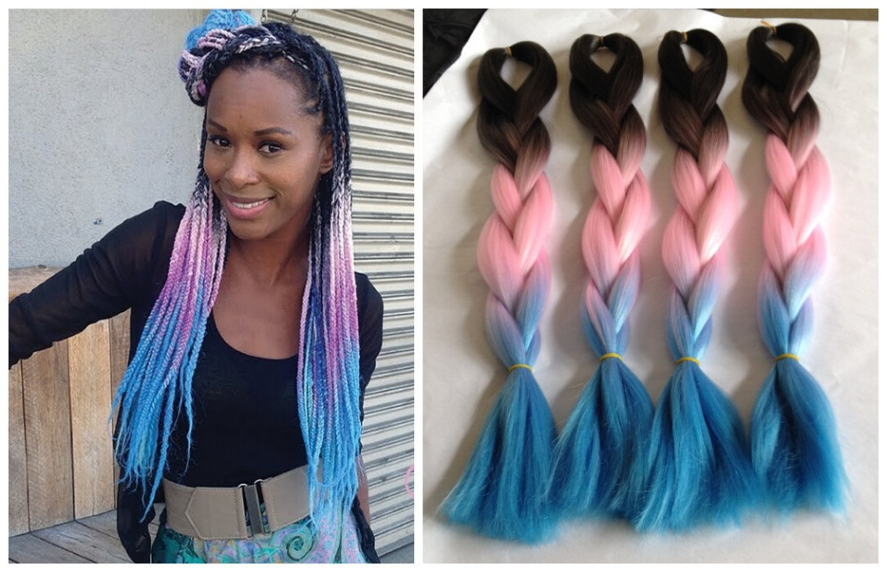 Crochet Braids Xpression Multi : Xpression Ombre Box Braids with Kanekalon Hair Africa DIY Braiding ...