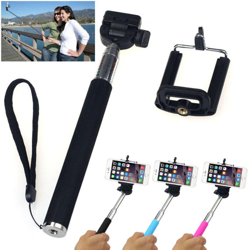 splendid selfie stick handheld monopod built in shutter extendable self mount holder for iphone. Black Bedroom Furniture Sets. Home Design Ideas