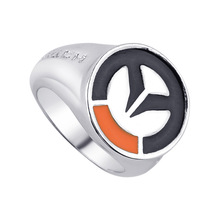 Buy Overwatch Ring 1 Pc Hot Game OW Silver Men Women Rings Cosplay Male Jewelry Friendship Gift Free for $1.09 in AliExpress store