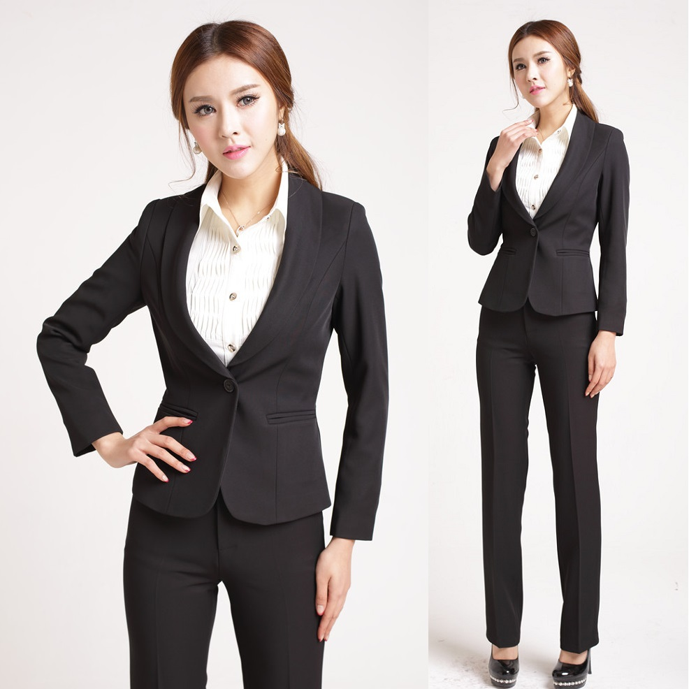 New 2015 spring formal office uniform designs women pants for Office uniform design 2015