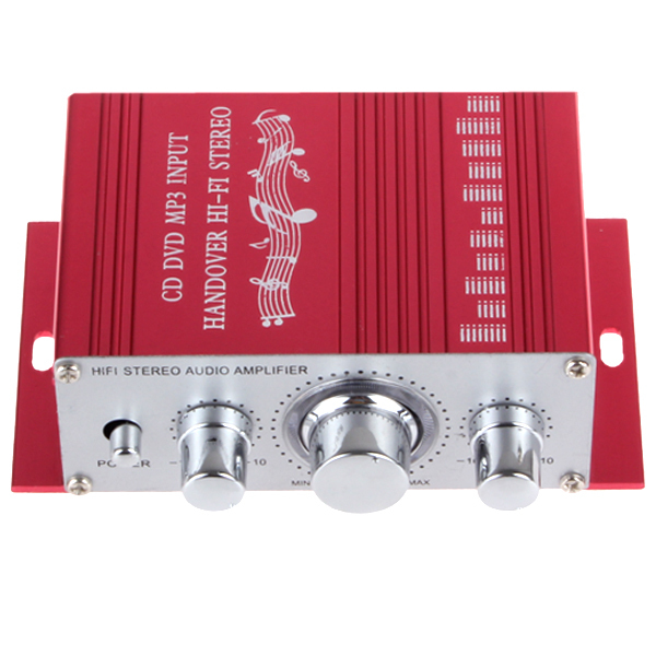 20W Red Hifi Mini Digital amplificador Motorcycle Auto Car Stereo Power Amplifier Sound Mode Audio Support DVD MP3 for Home(China (Mainland))
