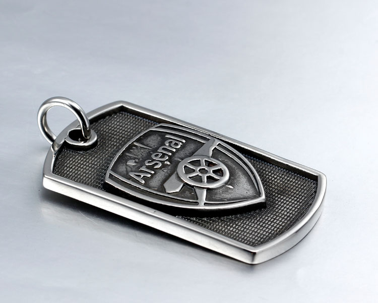 Premier League Arsenal Football Club army championship stainless steel dog tag Neckless pendant(China (Mainland))