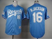 #16 Bo Jackson Royals jersey kc stitched Kansas City Royals gold jersey throwback baseball alvador Perez #35 Eric Hosmer jersey(China (Mainland))