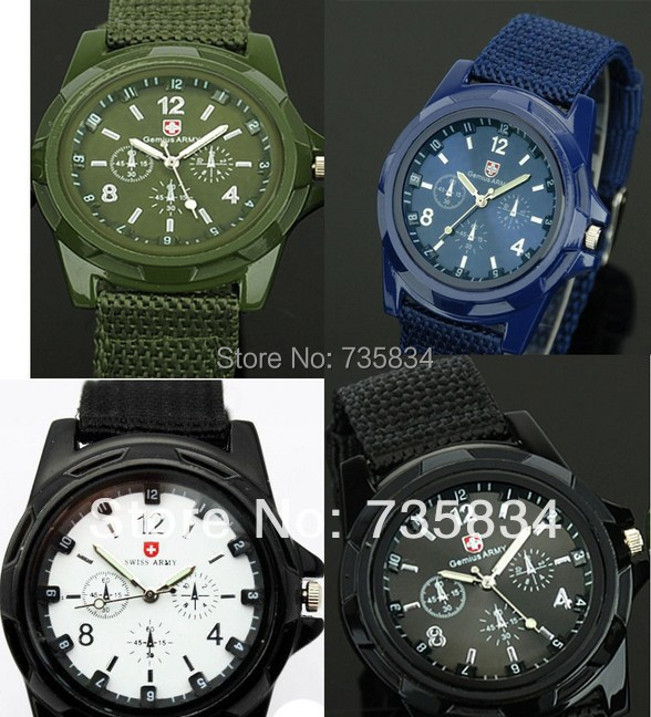 50pcs/lot HOTsale Luxury Analog new fashion TRENDY SPORT MILITARY STYLE WRIST WATCH for SWISS ARMY quartz watch 3 colors SA001<br><br>Aliexpress