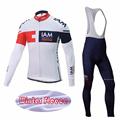 2016 New Unisex Team IAM Winter Thermal Fleece Cycling Wear Ropa De Ciclismo MTB bike Sportswear