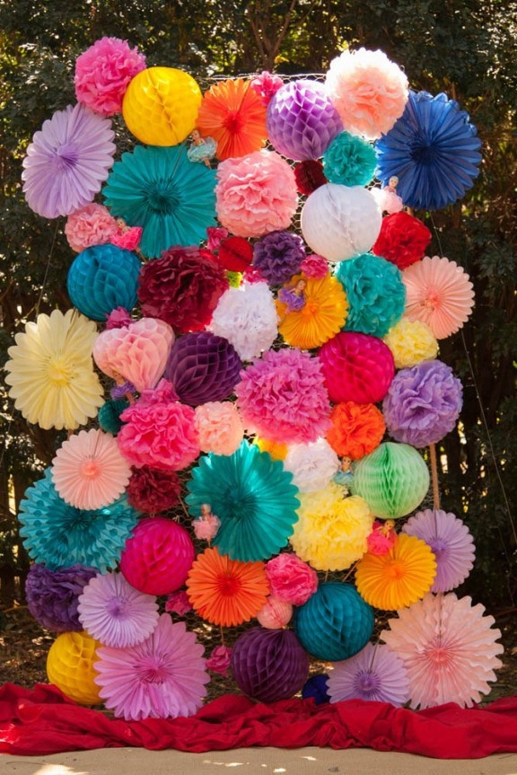 30pcs lot mixed 8 10 14 tissue paper flower pom poms wedding birthday party nursery baby