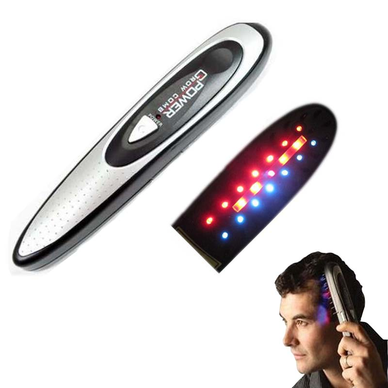 Power laser hair growth Comb Home Hair brush grow laser hair Loss Therapy comb regrowth device machine ozone infrared Massager(China (Mainland))