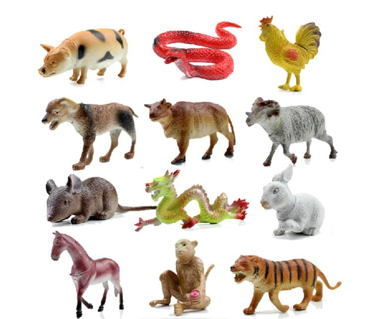 1 Chinese Twelve Zodiac Animals Action Figure Toys Christmas Gifts Children Baby Educational&Learning - YoYo Boutique store